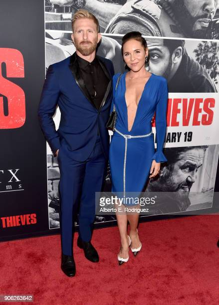 Kaiwi LymanMersereau attends the premiere of STX Films' 'Den of Thieves' at Regal LA Live Stadium 14 on January 17 2018 in Los Angeles California