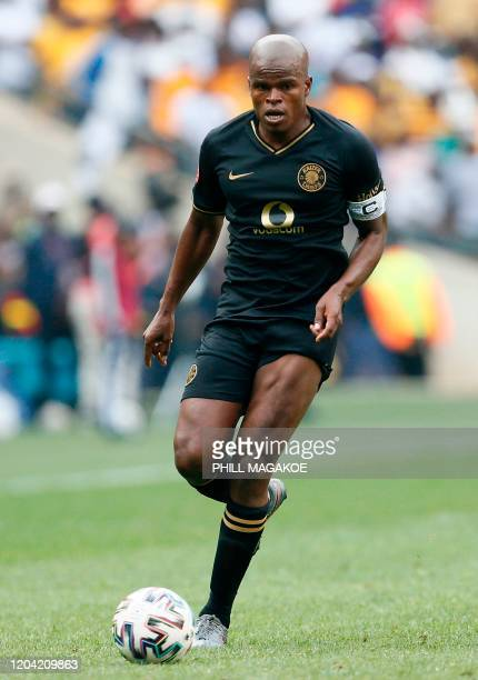 Kaizer Chiefs' captain Willard Katsande controls the ball during the Premier Soccer League match between Orlando Pirates and Kaizer Chiefs at the FNB...