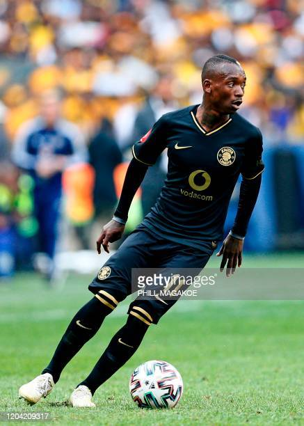 Kaizer Chiefs' forward Khama Billiat controls the ball during the Premier Soccer League match between Orlando Pirates and Kaizer Chiefs at the FNB...