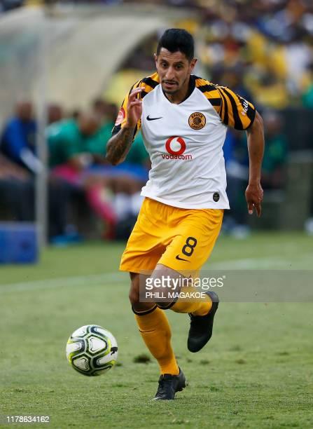 Kaizer Chiefs' forward Leonardo Castro runs with the ball during the ABSA Premier Soccer League match between Mamelodi Sundowns and Kaizer Chiefs at...