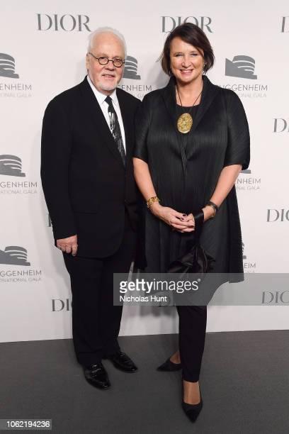 Kaj Forsblom and Rafaela SeppalaForsblom attend the Guggenheim International Gala Dinner made possible by Dior at Solomon R Guggenheim Museum on...