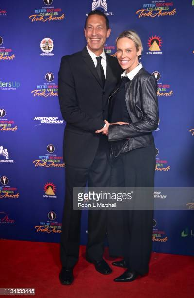 Kaj Goldberg and wife attend the 5th Annual Truth Awards at Taglyan Cultural Complex on March 09 2019 in Hollywood California
