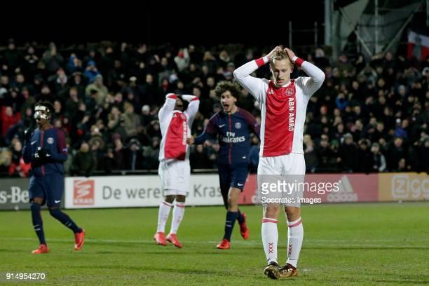 Kaj Sierhuis of Ajax U19 during the match between Ajax U19 v Paris Saint Germain U19 at the De Toekomst on February 6 2018 in Amsterdam Netherlands