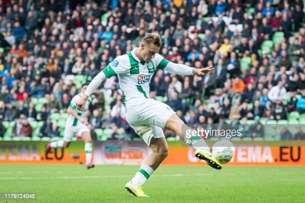 Kaj Sierhuis of FC Groningen scores 2-0, goal during the Dutch Eredivisie match between FC Groningen and Willem II Tilburg at Hitachi Capital...