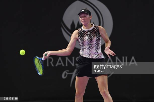 Kaja Juvan in action - receiving the ball during her game against Jaquelin Cristian on the fourth day of WTA 250 Transylvania Open Tour held in BT...