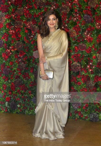 Kajal Aggarwal at Ranveer Singh and Deepika Padukones reception in Mumbai