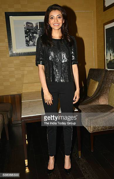 Kajal Aggarwal at the trailer of his upcoming movie Do Lafzon Ki Kahani in Mumbai