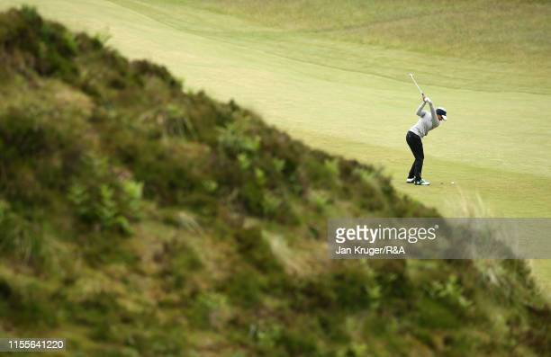 Kajal Mistry of South Africa in action in action during day three of the RA Womens Amateur Championship at Royal County Down Golf Club on June 13...