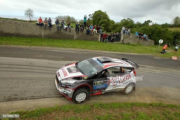 Kajetan Kajetanowicz and Baran Jaroslaw in Ford Fiesta R5 of Lotos Rally Team during the shakedow of the FIA ERC Azores Airlines Rallye 2016 in Ponta...