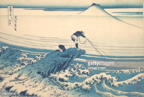 Kajikazawa in Kai Province , from the series Thirty-six Views of Mount Fuji , circa 1830-32. Artist Hokusai.