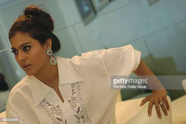 Kajol actress at Yash Studio in Andheri Mumbai Maharashtra India