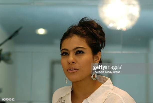Kajol, actress at Yash Studio in Andheri, Mumbai, Maharashtra, India