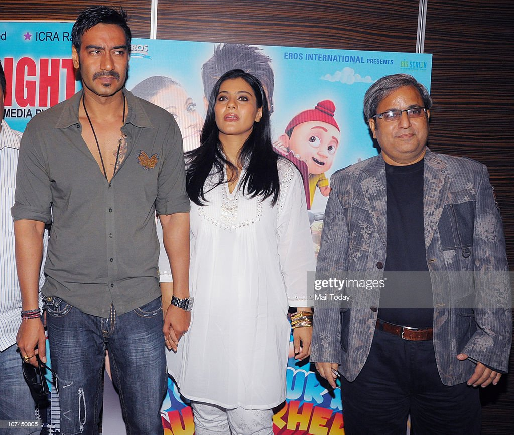 Kajol and Ajay Devgan at the music launch of the movie `Toonpur Ka Superhero` at Novatel Juhu on December 8 2010