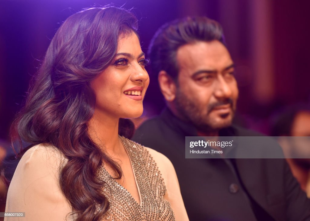 Kajol and Ajay Devgn during the HT Most Stylish Awards at Bandra on March 24 2017 in Mumbai India