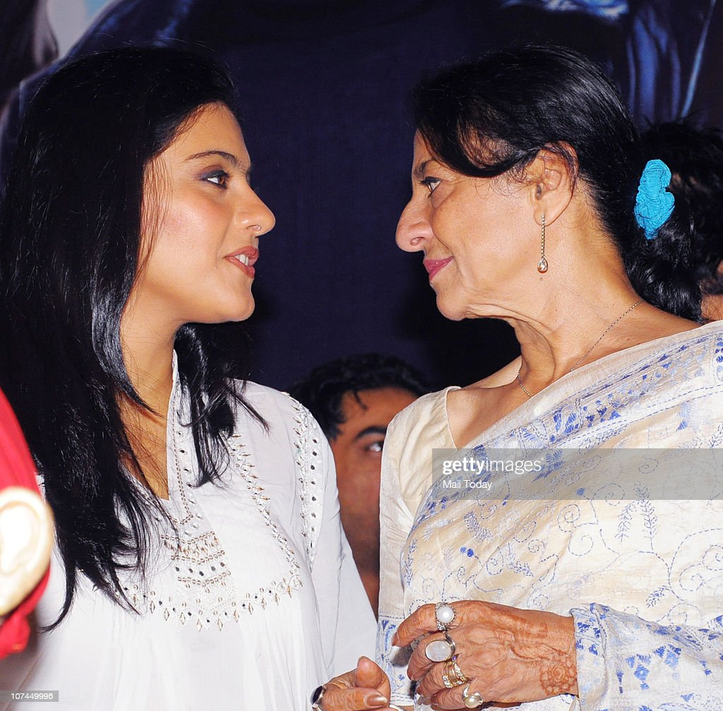 Kajol and her mother Tanuja at the music launch of the movie `Toonpur Ka Superhero` at Novatel Juhu on December 8 2010