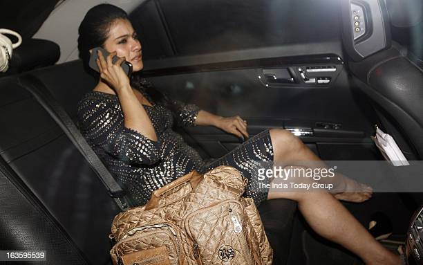 Kajol arrives at a bash hosted in honour of H'wood director Steven Spielberg in Mumbai on March 12 2013
