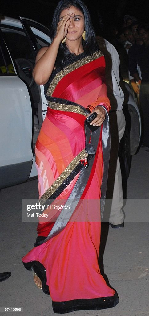 Kajol at the Filmfare Awards function at the Yashraj studios in Mumbai on February 28 2010