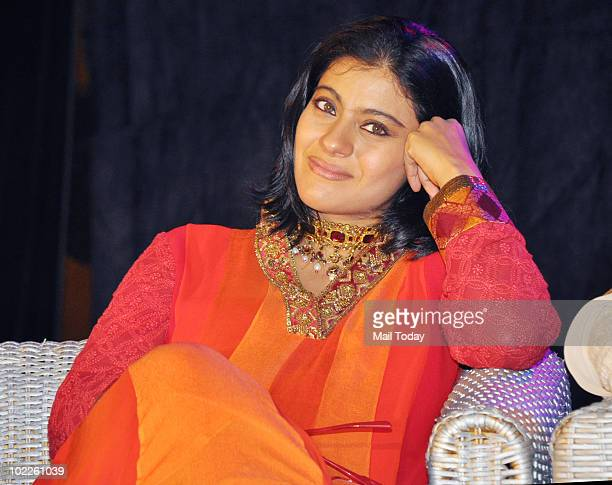 """Kajol at the launch of """"Chehere"""" a coffee table book compiled by celebrity photographer Gautam Rajadhakshya in Mumbai on June 18, 2010."""