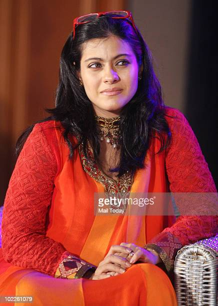 Kajol at the launch of 'Chehere' a coffee table book compiled by celebrity photographer Gautam Rajadhakshya in Mumbai on June 18 2010