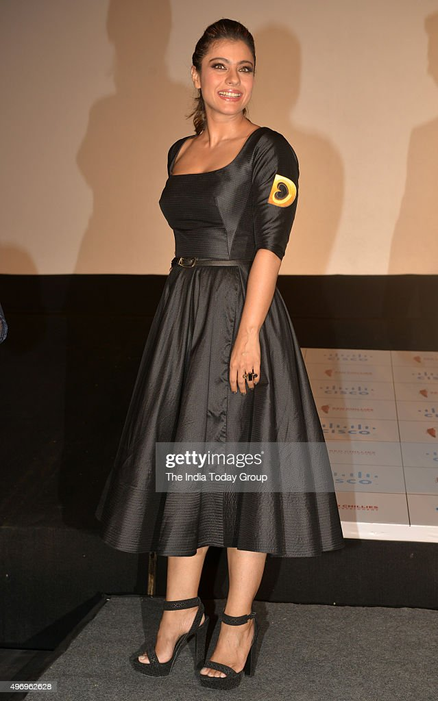Kajol at the trailer launch of her movie DILWALE in Mumbai