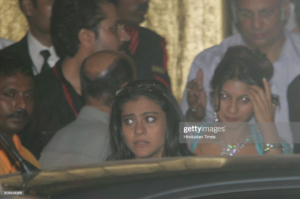 Kajol at the wedding of Aishwarya and Abhishek Bachchan