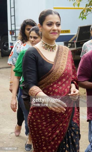 kajol attend the Tanhaji film photocall at Indian Idol set on December 22 2019 in Mumbai India