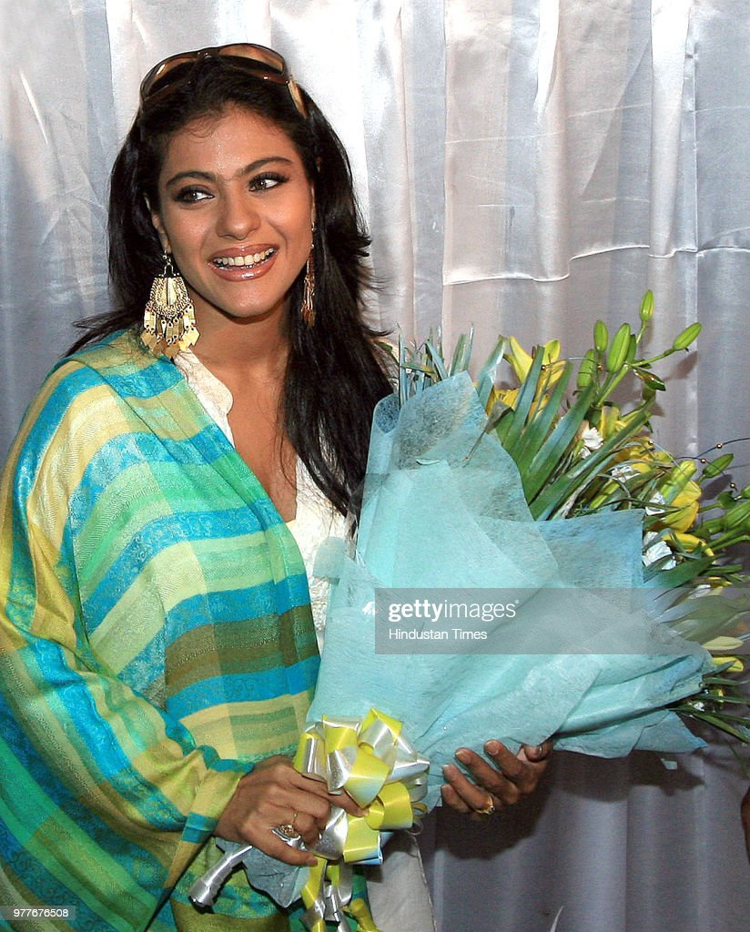 Kajol bollywood actress and brand ambassador of Tata Indicom introduces New Tata Indicom `Walky Talky` on June 6 2008 in New Delhi India