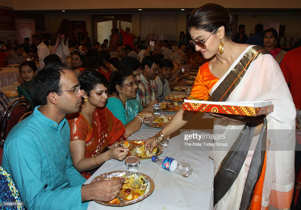 Kajol Devagan at Durga pooja pandal in Mumbai