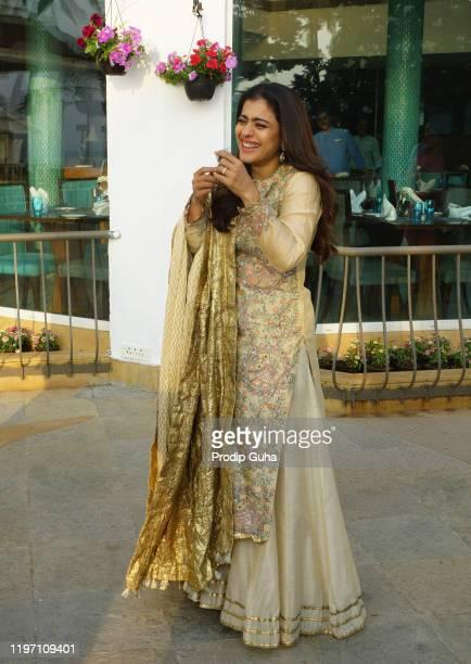 Kajol Devgn attend the Tanhaji film Photocall on January 022020 in Mumbai India