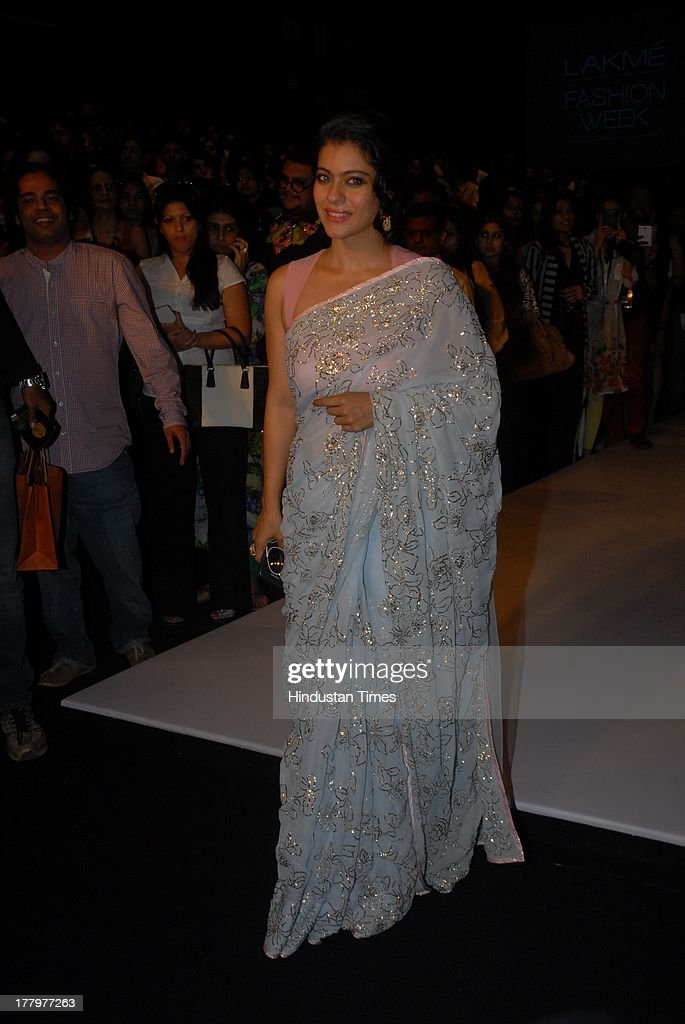Kajol Devgn during the Lakme Fashion Week Winter/ Festive 2013 on August 24 2013 in Mumbai India