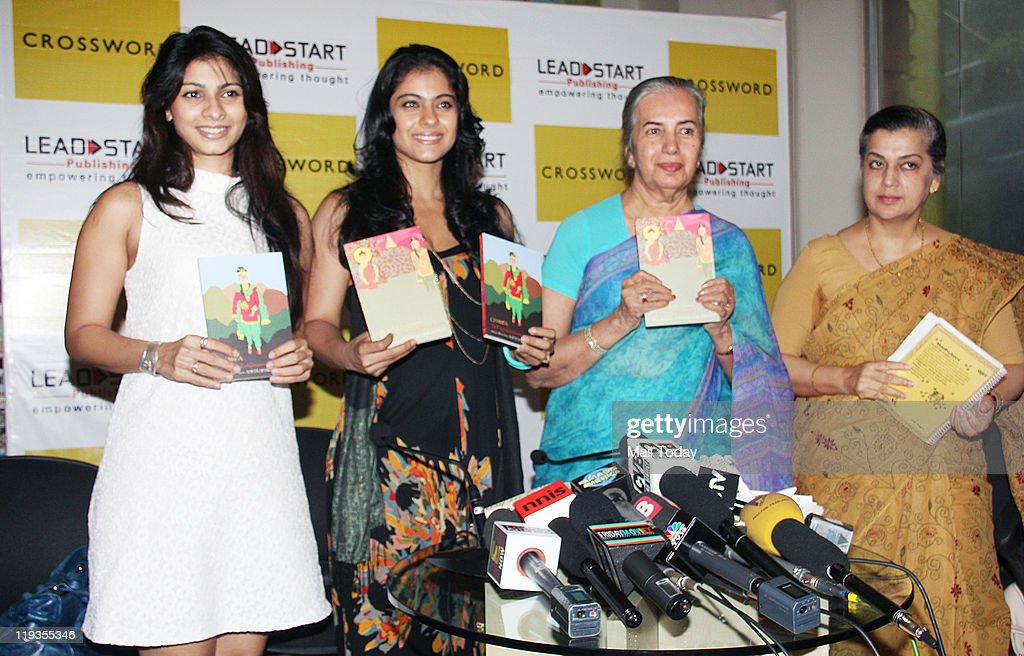 Kajol with Tanisha Mukherjee and Asha Shankardass at the book launch of the `Champa` series by Lead Start Publishing at Crossword Mumbai on July18...