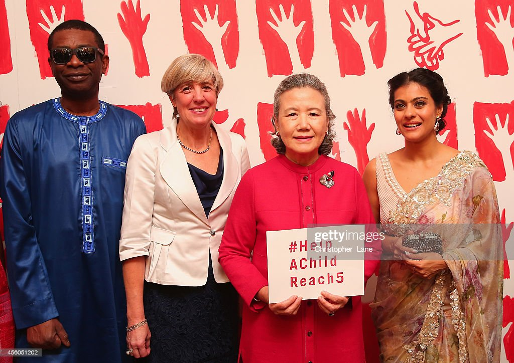Kajol Youssou N'Dour Mrs Ban Soontaek Mrs Polman handwashing ambassadors Kajol and Youssou N'Dour together with Mrs Ban Soontaek and Mrs Kim Polman...