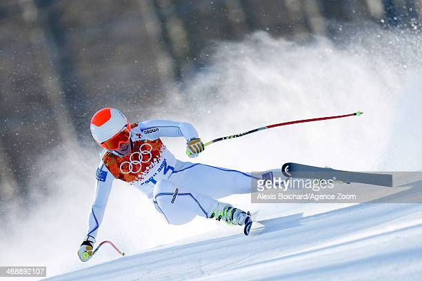 Kajsa Kling of Sweden competes during the Alpine Skiing Women's Downhill at the Sochi 2014 Winter Olympic Games at Rosa Khutor Alpine Centre on...