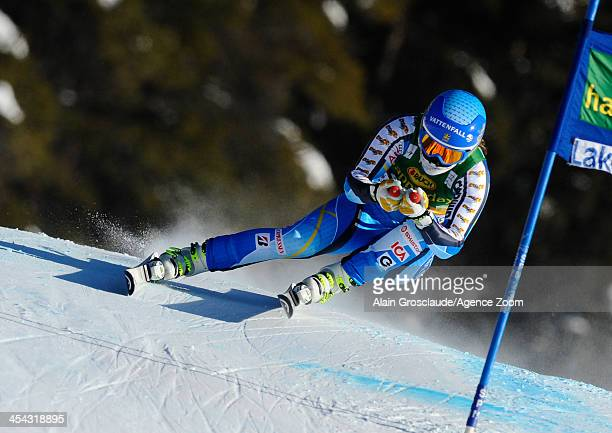 Kajsa Kling of Sweden competes during the Audi FIS Alpine Ski World Cup Women's SuperG on December 08 2013 in Lake Louise Canada