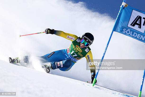 Kajsa Kling of Sweden in action during the Audi FIS Alpine Ski World Cup Women's Giant Slalom on October 22 2016 in Soelden Austria