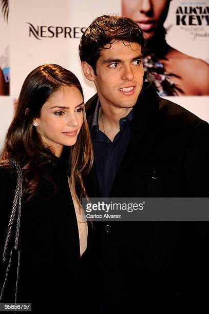 Kaka and his wife Caroline Celico attend Alicia Keys concert photocall at the Royal Theater on January 18 2010 in Madrid Spain