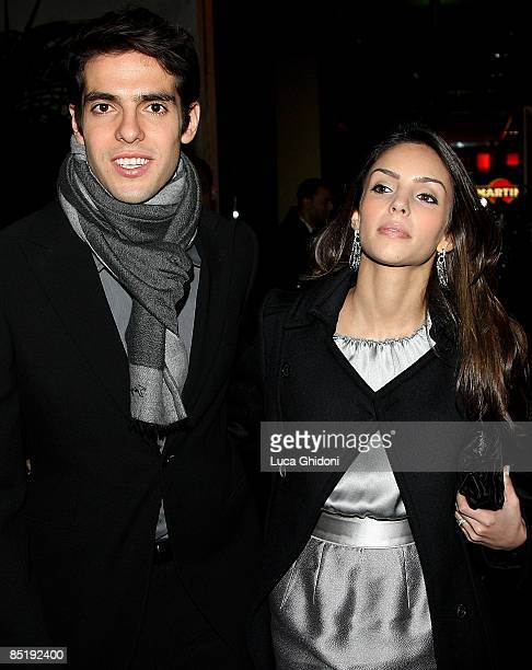 Kaka and his wife Caroline Celico attend the Extreme Beauty In Vogue dinner at the Gold Restaurant during Milan Fashion Week Autumn/Winter 2009 on...