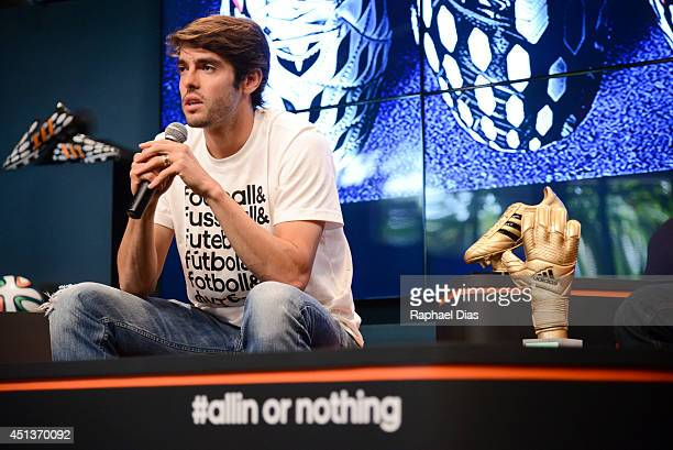 Kaka attends a press conference ahead of tomorrow's 'The Dugout' YouTube Live TV Show on June 27 2014 in Rio de Janeiro Brazil
