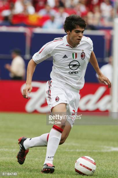 Kaka of AC Milan in action during the Champions World Series match between Manchester United and AC Milan at The Giants Stadium in East Rutherford,...