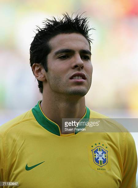 Kaka of Brazil before the international friendly match between Brazil and New Zealand at the Stadium de Geneva on June 4, 2006 in Geneva, Switzerland.