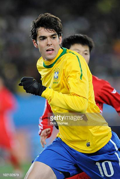 Kaka of Brazil during the 2010 FIFA World Cup South Africa Group G match between Brazil and North Korea at Ellis Park Stadium on June 15 2010 in...