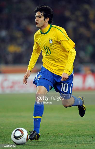 Kaka of Brazil during the 2010 FIFA World Cup South Africa Group G match between Brazil and Ivory Coast at Soccer City Stadium on June 20 2010 in...