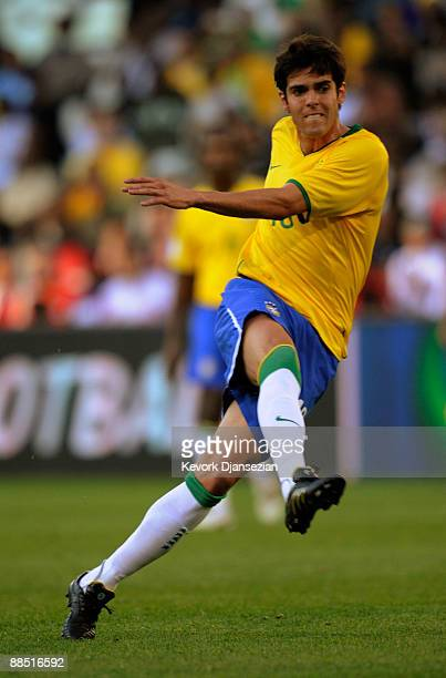 Kaka of Brazil during the first half against Egypt at the FIFA Confederations Cup match between Brazil and Egypt at Free State stadium on June 15,...