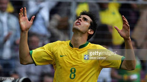 Kaka of Brazil during the international friendly match between Brazil and New Zealand at the Stadium de Geneva on June 4, 2006 in Geneva ,...