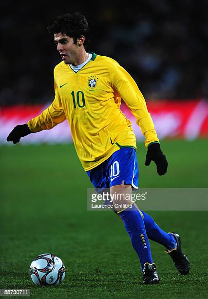 Kaka of Brazil in action during the FIFA Confederations Cup Final between USA and Brazil at the Ellis Park Stadium on June 28 2009 in Johannesburg...
