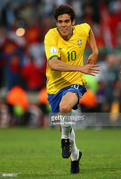 Kaka of Brazil in action during the FIFA Confederations Cup match between Brazil and Egypt at The Free State Stadium on June 15, 2009 in...
