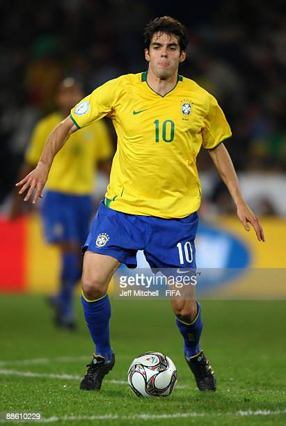 Kaka of Brazil in action during the FIFA Confederations Cup match between Italy and Brazil at the Loftus Versfeld Stadium on June 21 2009 in Pretoria...