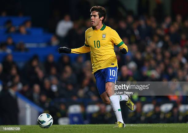 Kaka of Brazil in action during the International Friendly match between Russia and Brazil at Stamford Bridge on March 25 2013 in London England