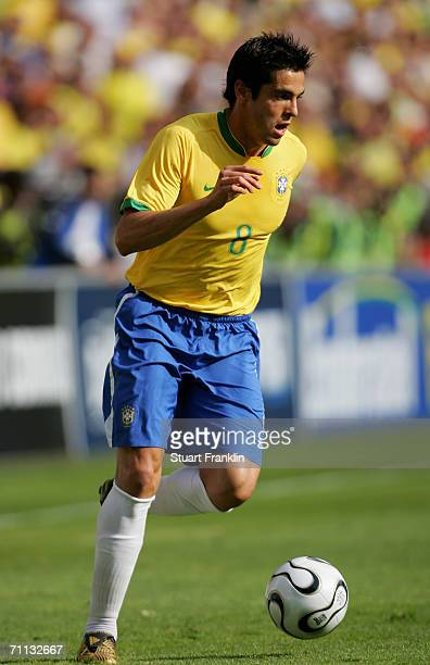 Kaka of Brazil in action during the international friendly match between Brazil and New Zealand at the Stadium de Geneva on June 4 2006 in Geneva...