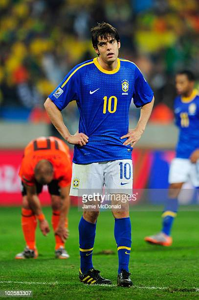 Kaka of Brazil looks dejected during the 2010 FIFA World Cup South Africa Quarter Final match between Netherlands and Brazil at Nelson Mandela Bay...